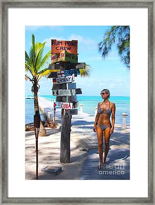 Rum Point Day Framed Print by Carey Chen