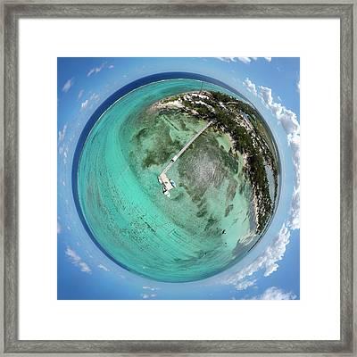 Rum Point Little Planet Framed Print