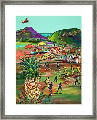 Framed Print featuring the painting Rum With The Pineapple by Patti Schermerhorn