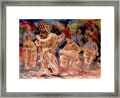 Rumba Abakua Framed Print by Samuel Lind