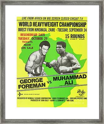 Rumble In The Jungle Rare Vintage Poster Print Framed Print by Pd