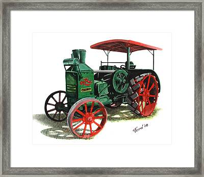 Rumely Oil Pull X Tractor Framed Print