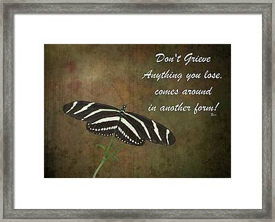 Rumi Quote-12 Framed Print by Rudy Umans