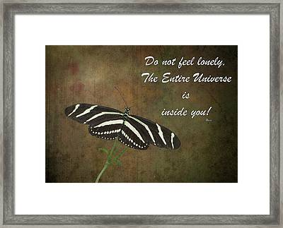 Rumi Quote-13 Framed Print by Rudy Umans