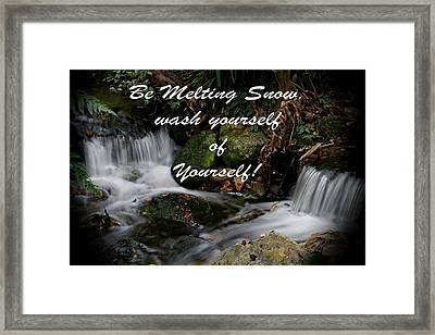 Rumi Quote-5 Framed Print by Rudy Umans