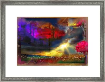 Rumi Rumination-1 Framed Print by Seema Sayyidah