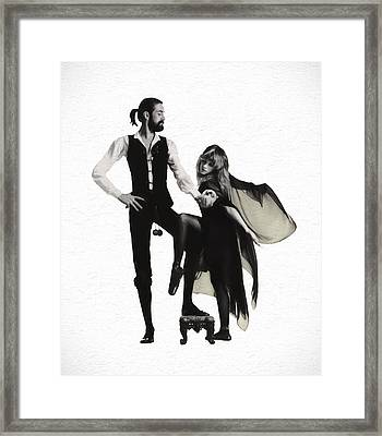 Rumours Painterly Framed Print by Daniel Hagerman