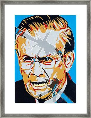 Rumsfeld Framed Print by Dennis McCann