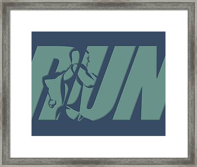 Run 1 Framed Print