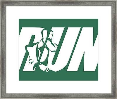 Run 2 Framed Print