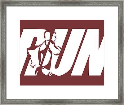 Run 3 Framed Print