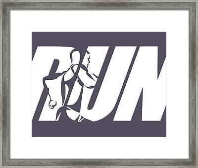 Run 4 Framed Print