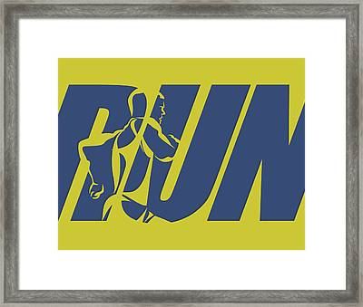 Run 5 Framed Print