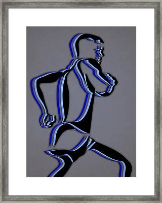 Run 7 Framed Print