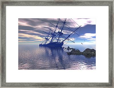 Framed Print featuring the digital art Run Aground by Claude McCoy