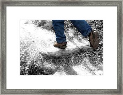Run Away Framed Print by Jeannie Burleson