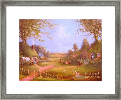 Run Bilbo Late For An Appointment Framed Print by Joe  Gilronan