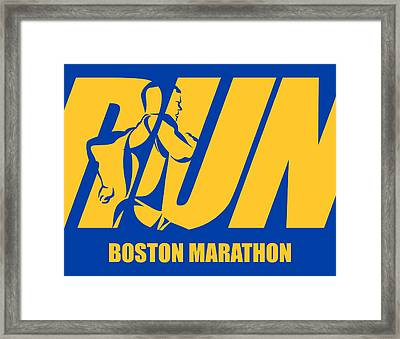 Run Boston Marathon Framed Print