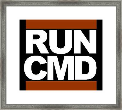 Run Cmd Framed Print