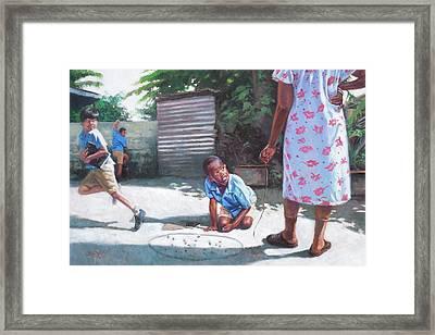 Run Framed Print by Colin Bootman