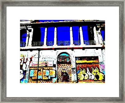Run Down Valparaiso Buildings Framed Print by Funkpix Photo Hunter