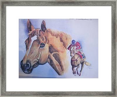 Run For The Cup Framed Print by Peg Whiting