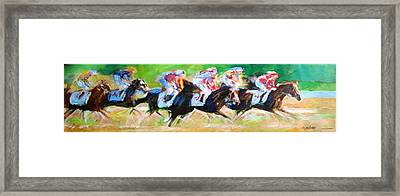 Run For The Money Framed Print