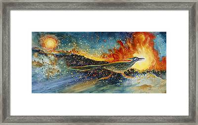 Run For Your Life Framed Print by Ruth Canada