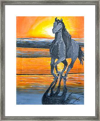Run Free Framed Print by Donna Blossom