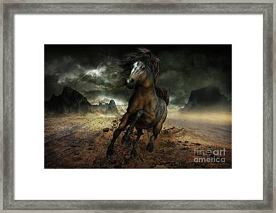 Run Like The Wind Framed Print by Shanina Conway