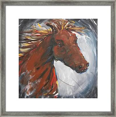 Run Like The Wind Framed Print by Terri Einer