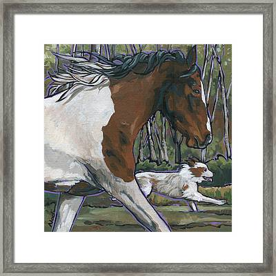 Run Framed Print by Nadi Spencer
