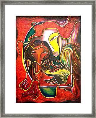 run Framed Print by Raji Chacko
