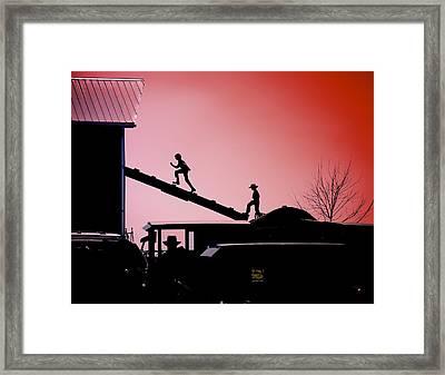 Run To The Hayloft Framed Print