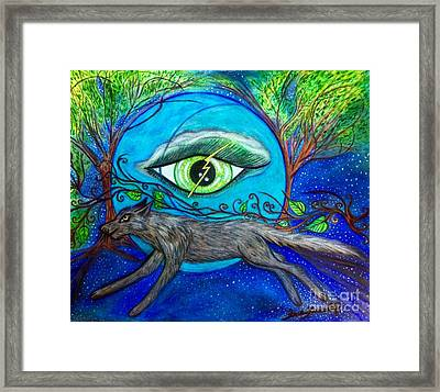 Run With Me Framed Print by Sara Gravely- Comstock