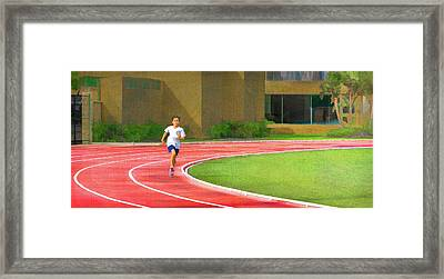 Run With The Wind Framed Print by Peter Hayward Photographer