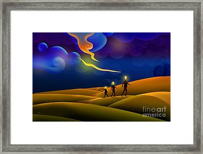 Runaway Ideas Framed Print by Bedros Awak