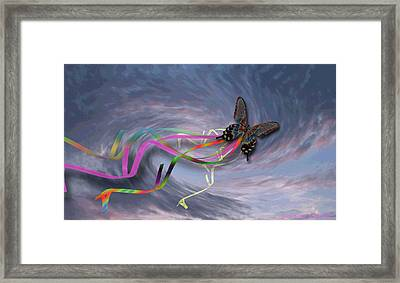 Runaway Kite Framed Print by Cheri Doyle