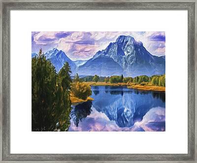Rundle Mountain Framed Print by Wayne Bonney