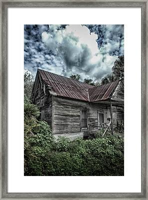 Rundown And Overgrown Framed Print by Judy Hall-Folde