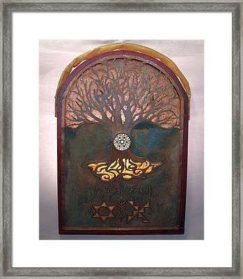 Runes For Restoration Illuminated Framed Print