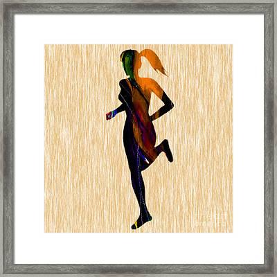 Runner Framed Print by Marvin Blaine