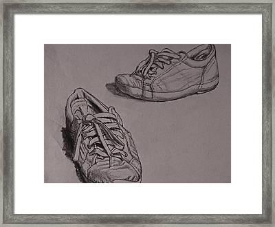 Runners Framed Print by Chris  Riley