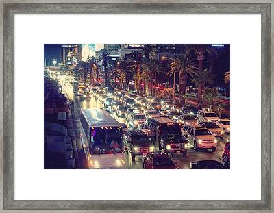 Running Around On Fossil Fuel Framed Print by Peter Thoeny