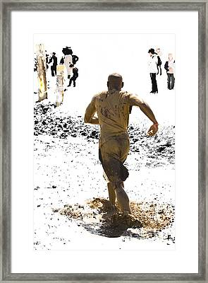 Running Away From Reality Framed Print by Mark Hendrickson