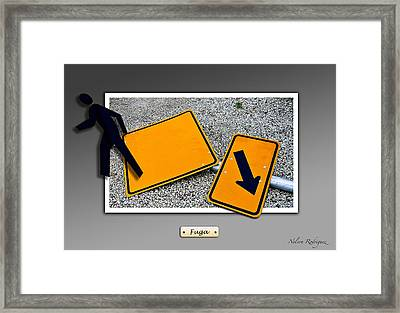 Running Away Framed Print by Nelson Rodriguez