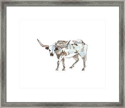 Running Back Texas Longhorn Lh070 Framed Print