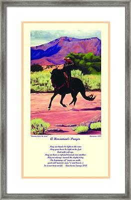 Framed Print featuring the painting Running Before The Storm And Prayer by Anastasia Savage Ealy