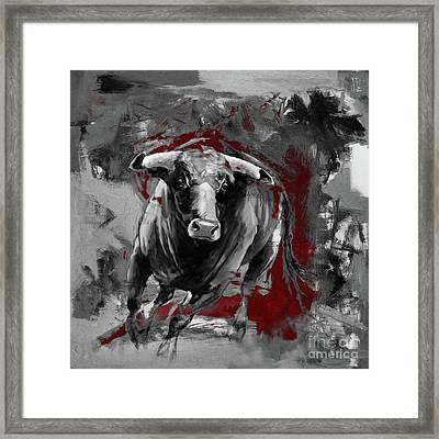 Running Bull 0003 Framed Print
