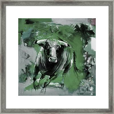 Running Bull 0043 Framed Print